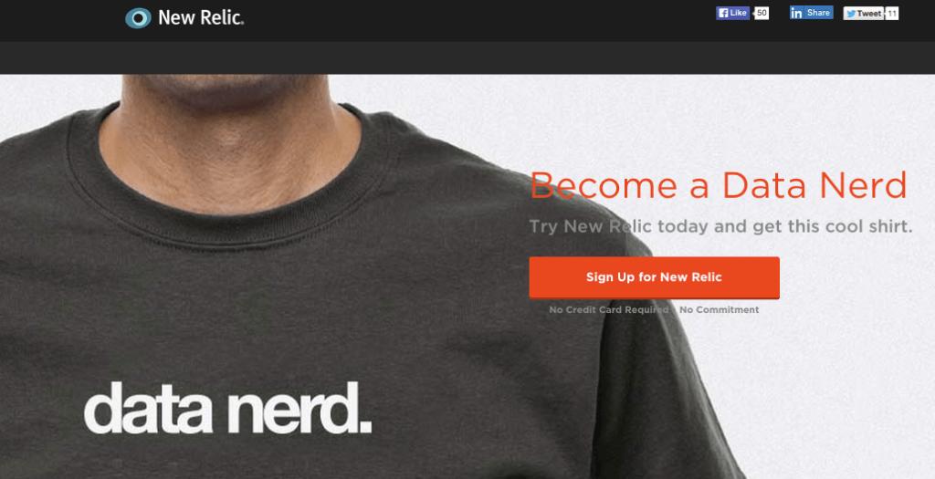 New Relic Screenshot: Become a Data Nerd