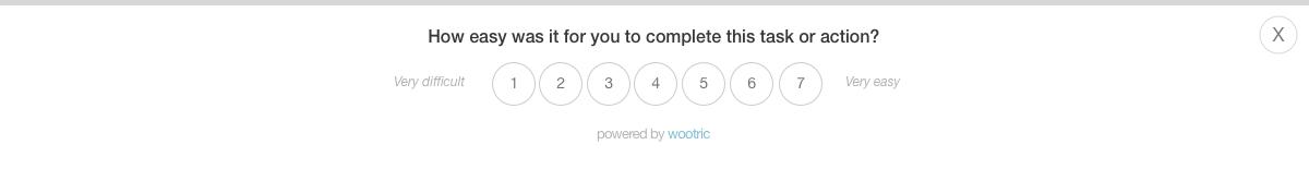 Customer Effort Score Web Survey