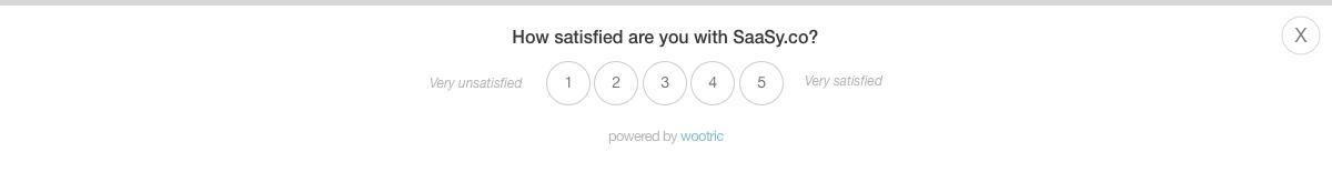 CSAT - Wootric Web Survey