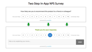 Two Step In-app NPS Survey from Wootric