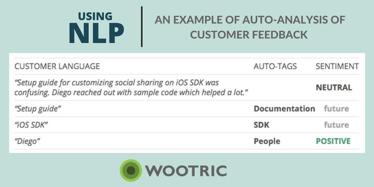 USing NLP: Example of Auto analysis of Customer Feedback