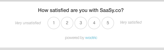CSAT survey in-app from Wootric