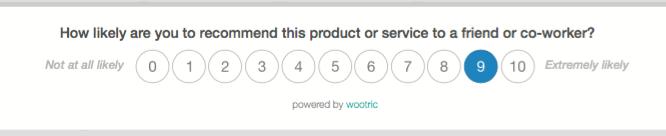 In-app NPS survey