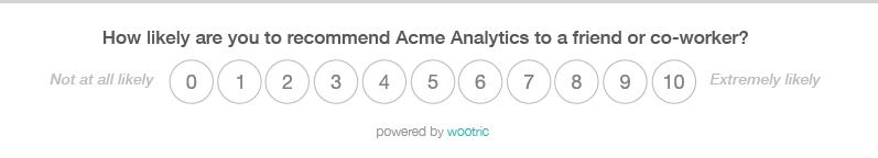 Wootric NPS Survey Acme Analytics