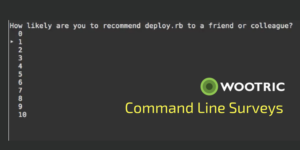 Command Line Surveys from Wootric