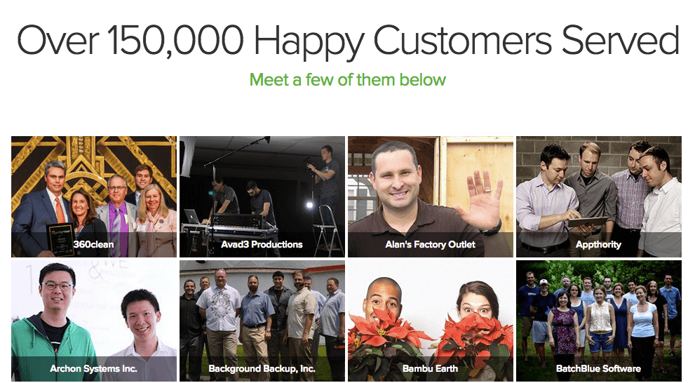 Customer Centric Grasshopper Happy Customer web page