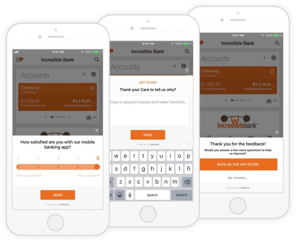 Mobile CSAT survey for banking app