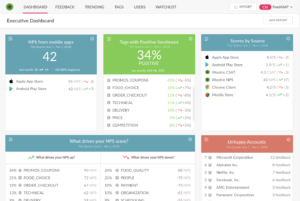 Wootric CXI executive dashboard for VoC