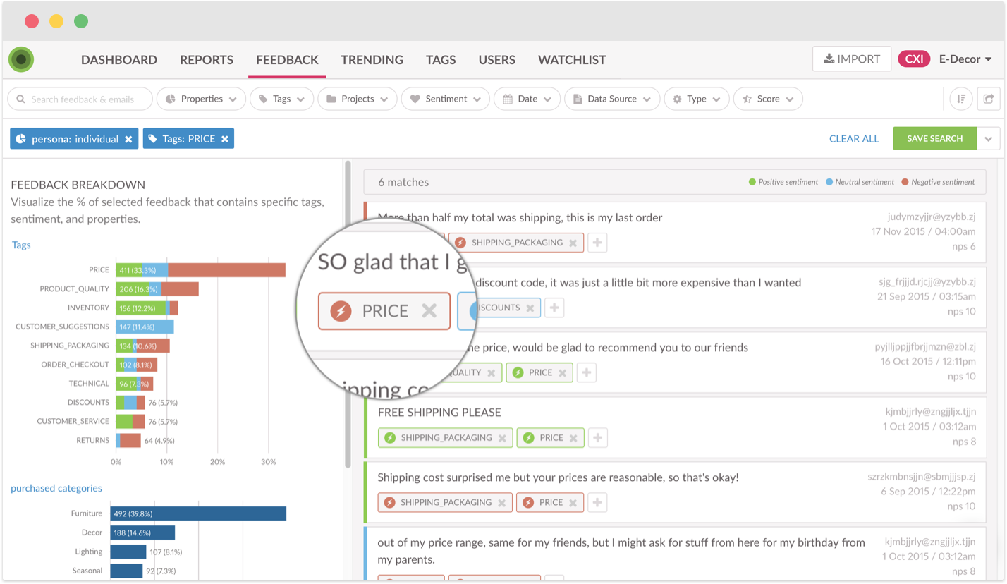 Text and Sentiment Analysis on Customer Feedback