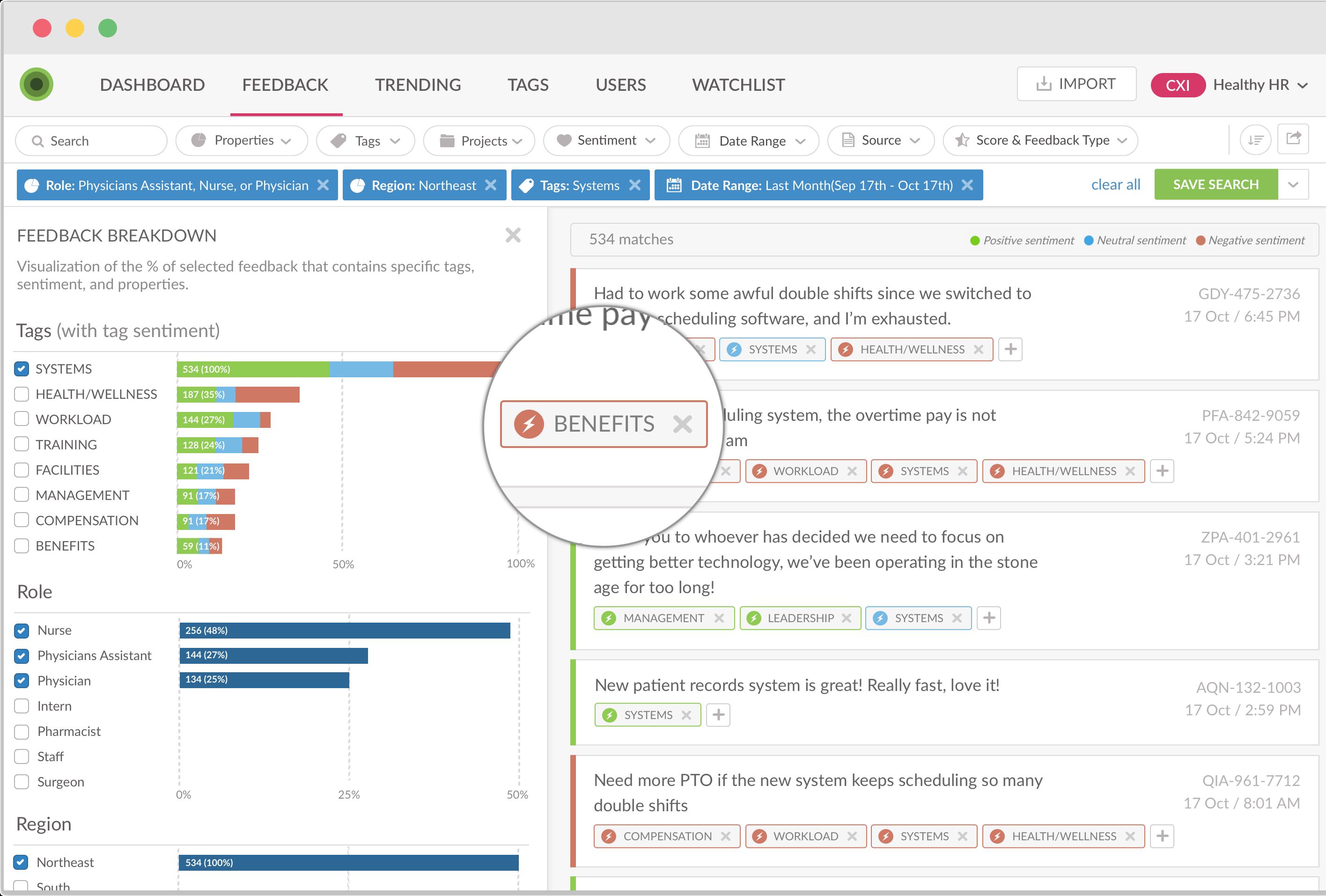 Employee Feedback Analytics Dashboard