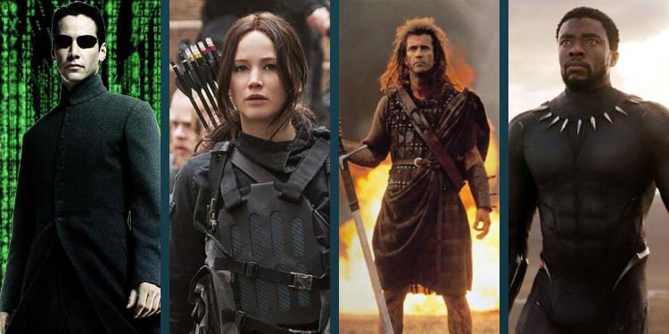 neo katniss, braveheart, black panther
