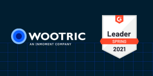 Wootric logo with G2 Leader badge